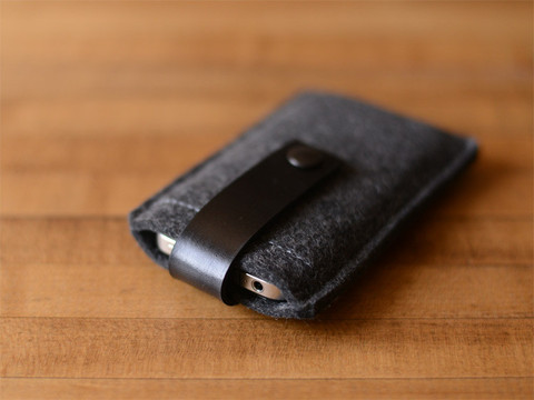 Byrd & Belle Felt and Leather Iphone Sleeve Case, $36 from byrdandbelle.com